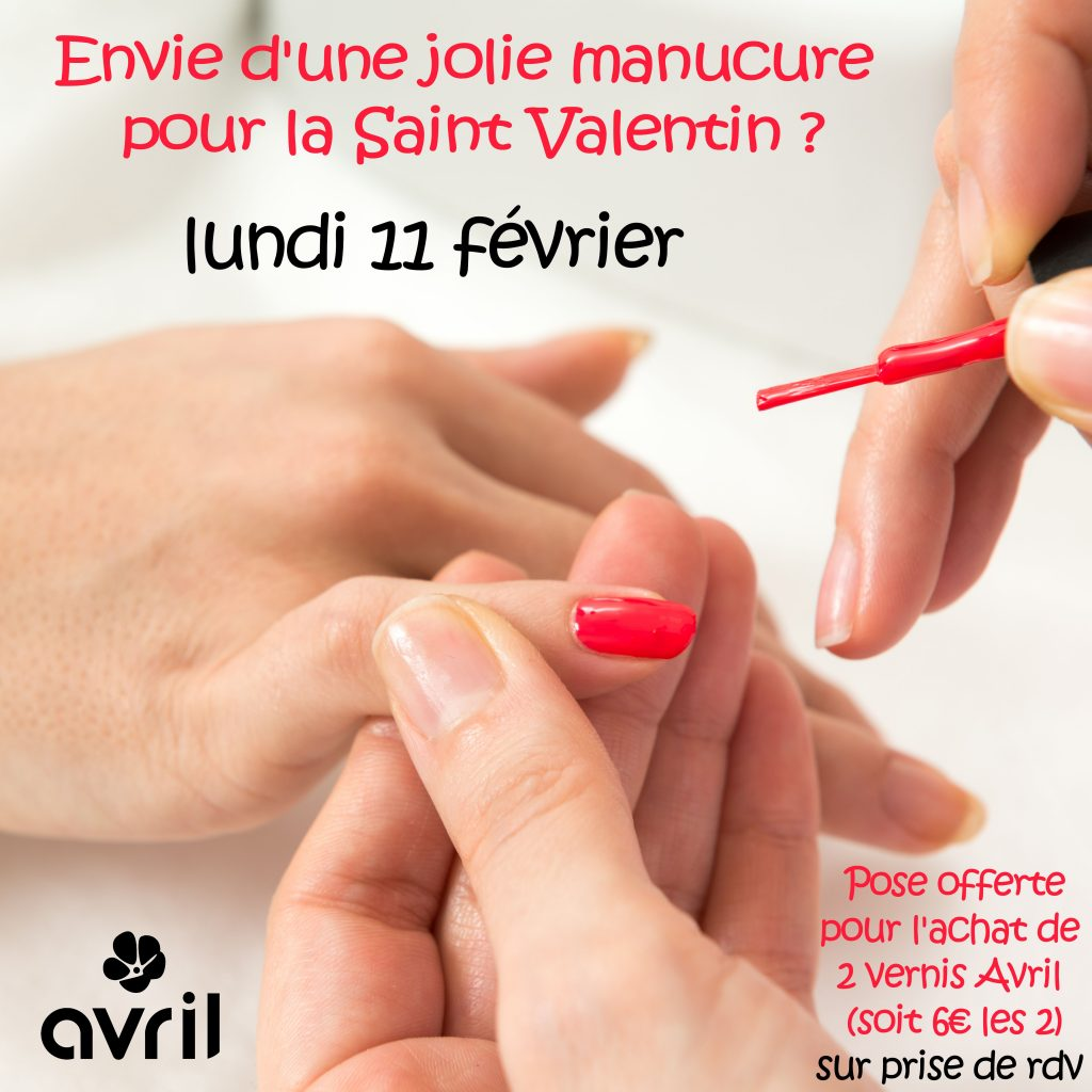 Animation pose vernis Avril Saint-Valentin